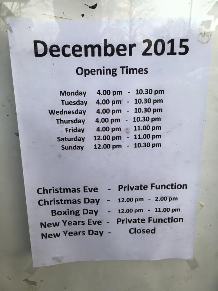 Stamford Arms opening times