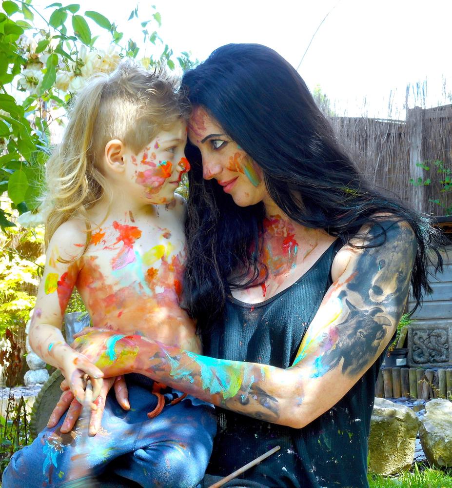 Parsley Pie Club - Jenny & Theron paint fight