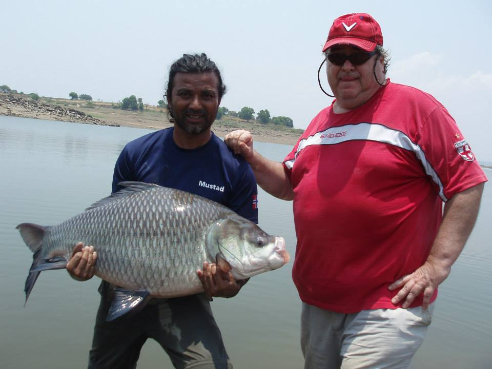 Pete With Happy Client at KRS Fishng Camp