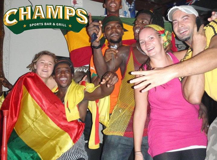 Pete Carroll, Champs Bar Accra, Ghana