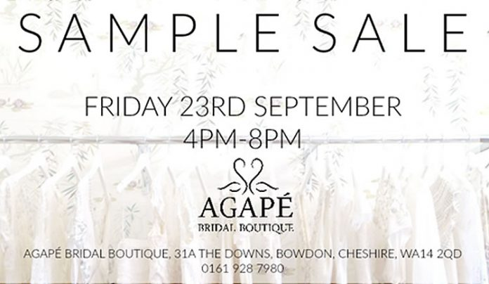 Agape Sample Sale Notice