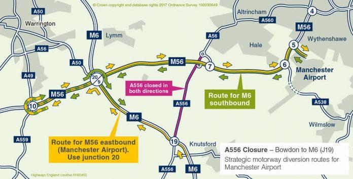 A556 Road Closures