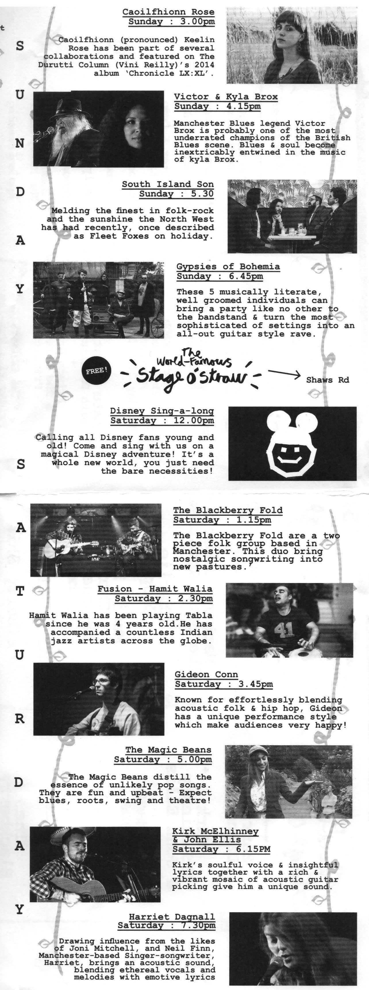Main Stage & Stage o Straw