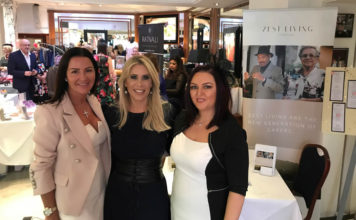 Zest Living Liz Ryan (right) Liz Ryan, right, with Rachel Lugo, centre, from The Real Housewives of Cheshire, at the Cheshire Socialites' (cheshiresocialites.co.uk) Fillies and Stallions Ascot Charity Fashion Lunch