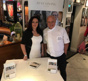 Zest Living's Liz Ryan wih Aldo Zilli at Cheshire Socialites' (cheshiresocialites.co.uk) Fillies and Stallions Ascot Charity Fashion Lunch
